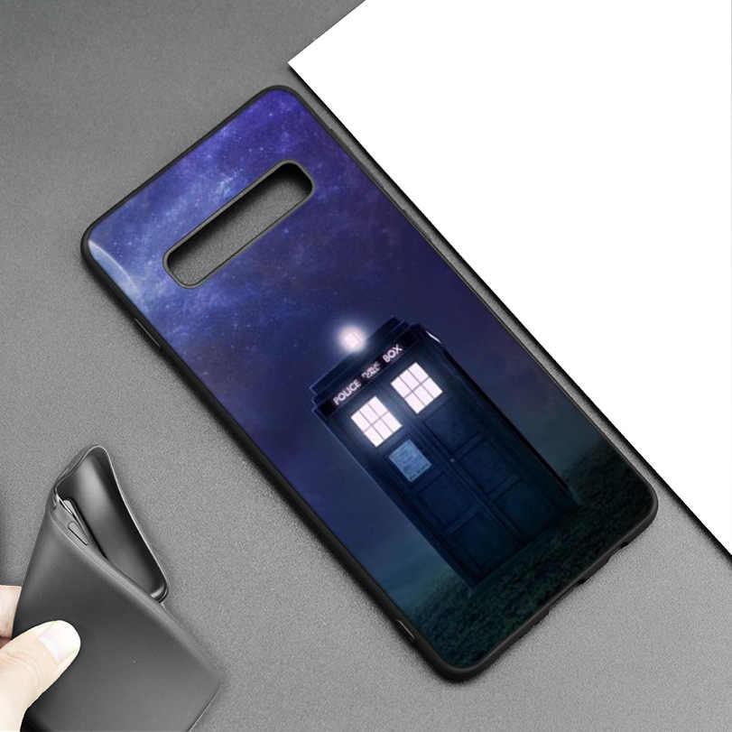 Obudowa tardis Doctor Who czarny silikonowy pokrowiec do Samsung Galaxy M20 S10e S10 S9 M10 S8 Plus 5G S7 S6 krawędzi telefon miękkie etui Coque