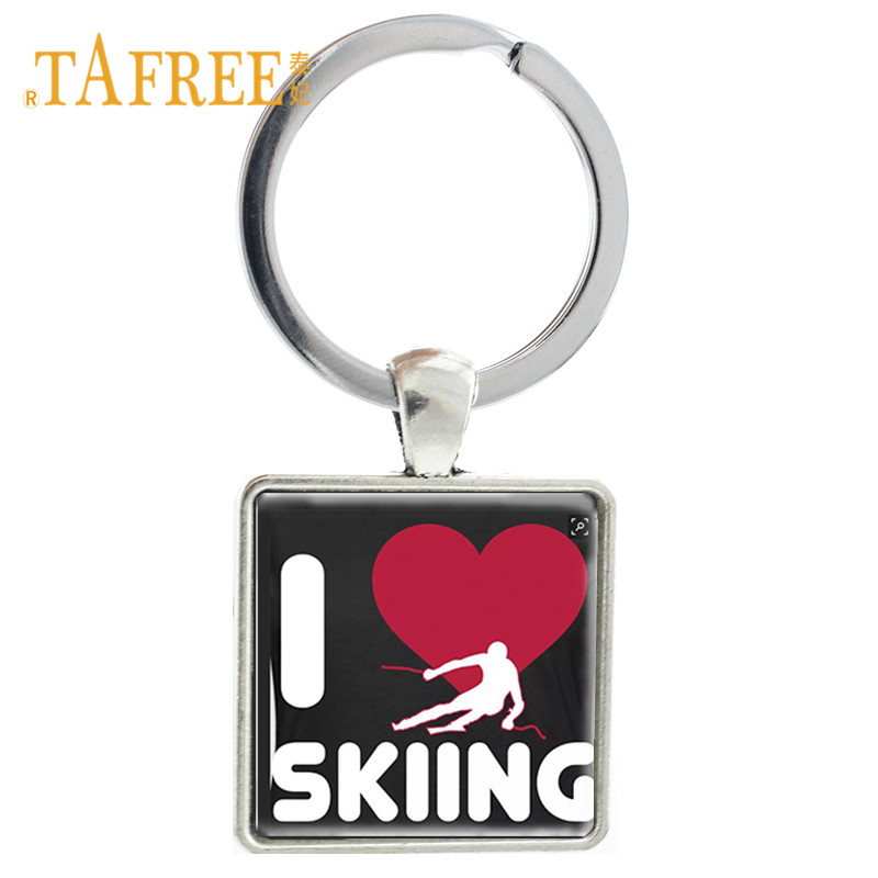 Key Chains Jewelry Sets & More Romantic Tafree Casual/sporty Jewelry Love Skiing Figure Silhouette Keychain Ski Key Chain Keyrings Men Women Outdoor Sport Gift Sg04