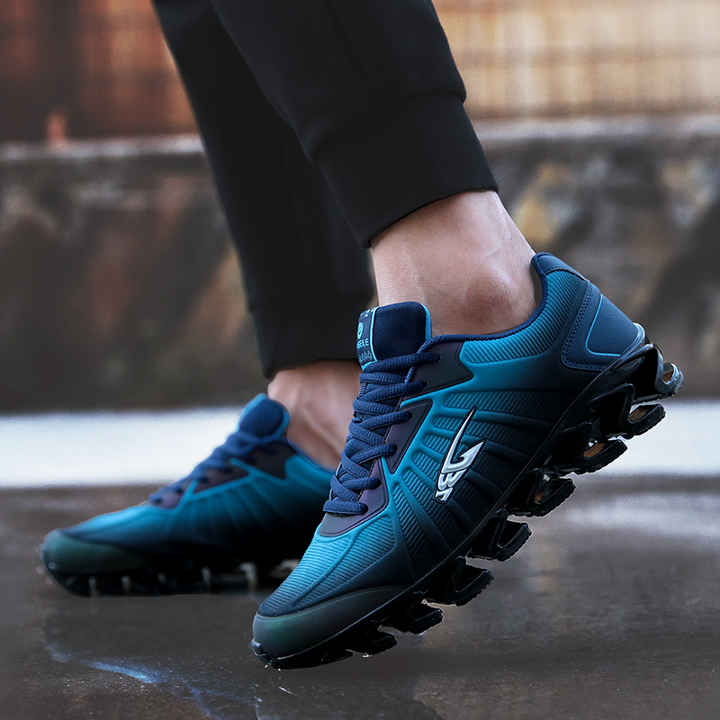 Men Shoes Bow-Blade Outdoor Running Shoes For Men Cushioning Spring Blade Sport Shoes Cool Breathable Male Sneakers