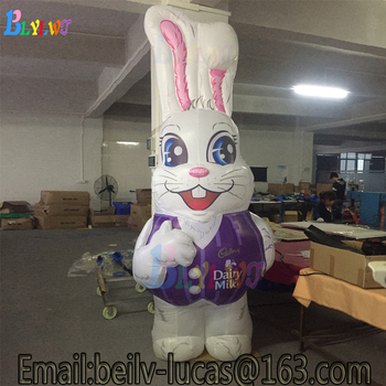 3m high inflatable rabbit Easter giant outdoor decorative inflatable rabbit model, happy inflatable rabbit