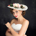 A nova noiva cocar chapéu chapéu de flores acessórios de moda Coreano noiva artesanal chapéu chapéu cocar.