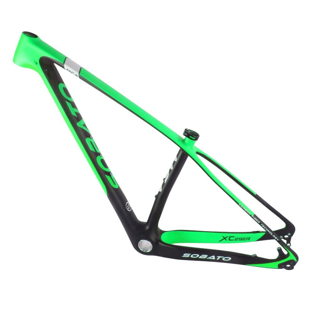 Sobato 29er MTB Full Carbon Bike Frame 29ER Bike Frame , New Full Carbon UD Mountain Bike MTB Frame 29er Bicycle Frame