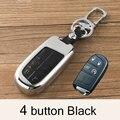 Цинковый сплав + кожаный чехол для автомобильного ключа для Jeep Grand Cherokee SRT Renegade Wrangler JK Compass 2017 Патриот автомобильный Стайлинг