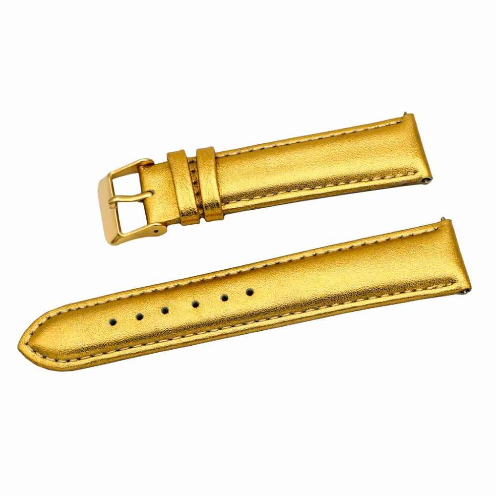 12mm 14mm 16mm 18mm 20mm 22mm 24mm 26mm 28mm 30mm สายนาฬิกาแท้สายนาฬิกาหนังแท้แฟชั่นเงินนาฬิกา Bnad เข็มขัดชั่วโมง
