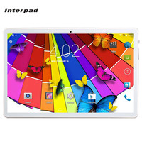 Interpad 10 inç 3G Android Tabletler MTK6582 Quad Core Telefon çağrı 16 GB tablet çift SIM WIFI Bluetooth 4.0 GPS 8 9 10.1 Tablet PC
