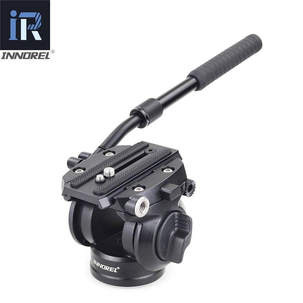 INNOREL H70 tête de trépied de fluide hydraulique vidéo panoramique pour trépied de caméra stabilisateur de curseur monopode avec plaque de dégagement rapide