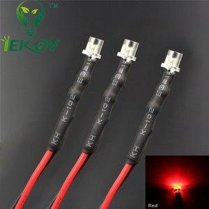 Image 4 - 20pcs LED 3mm LED DIODE 12V Pre Wired 12v DC Flat top Emitting Diodes Wide Angle 20CM DIY