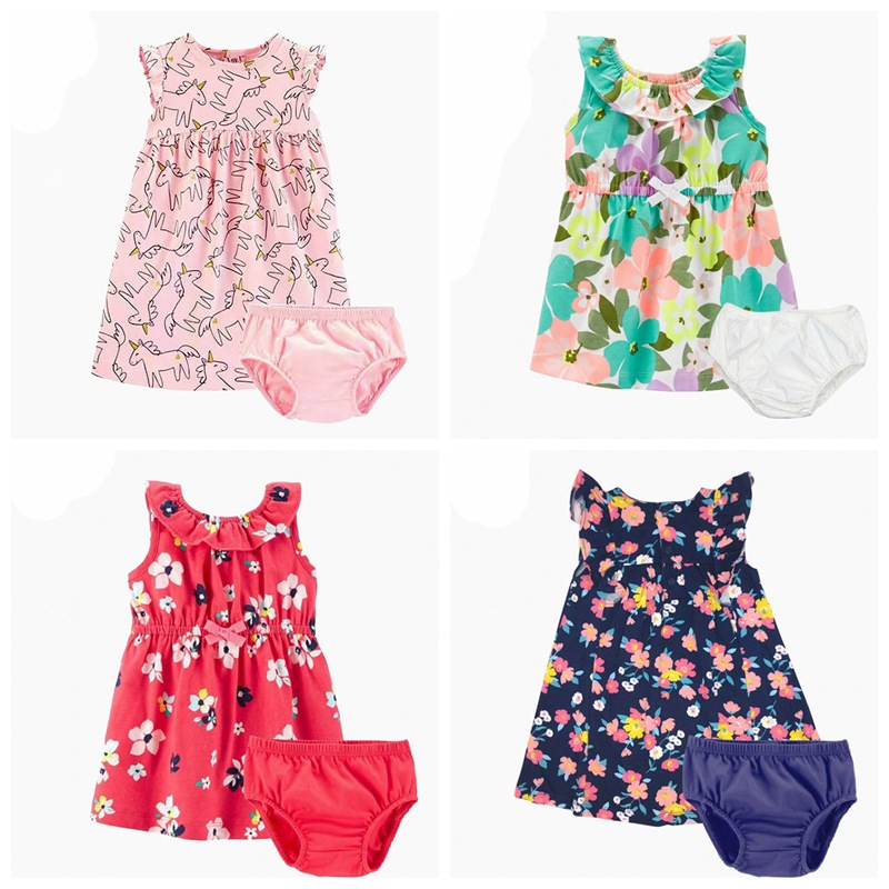 2019 Orangemom Official Store Summer New Girls Kids Princess Dress Bodysuit Pure Cotton Clothes Girl Baby 2pcs Children Clothing