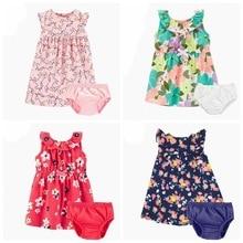 2019 Orangemom Official store Summer New Girls Kids Princess Dress Bodysuit Pure Cotton Clothes Girl Baby 2pcs Children Clothing