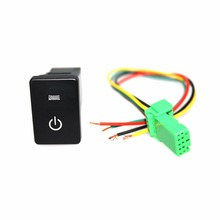 1 set Car Engine Start Button Switch Ignition Switch ABS Starter Kit With LED Light Driving Lights for Corolla Vios Reiz Yaris