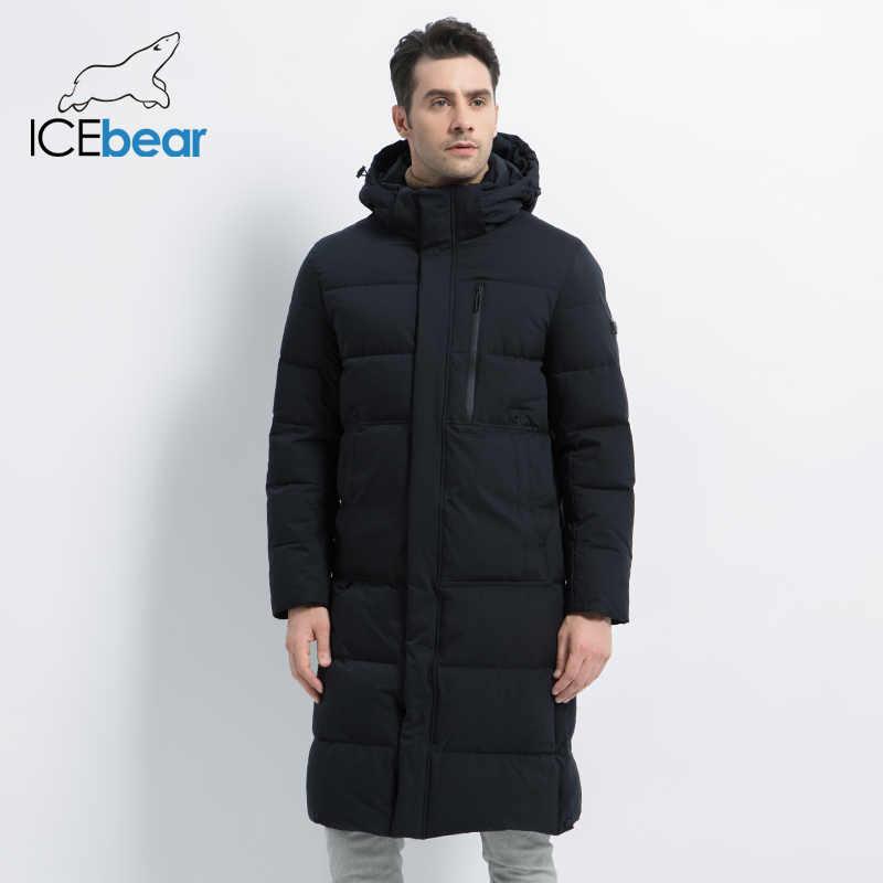 2019 Nieuwe Mannen Winter Jas Lange Heren Jas Met Rits Hooded Mannelijke Jassen Hoge Kwaliteit Man Winter Merk kleding MWD19913D