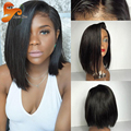 Short Full Lace Human Hair Bob Wigs For Black Women Brazilian Virgin Hair Bob Lace Front Wig Glueless Full Lace Frontal Bob Wig