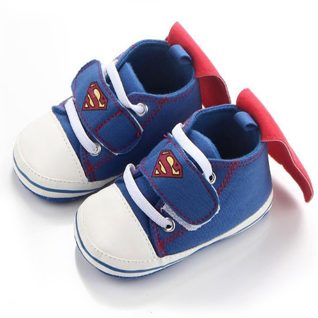 37948460cd81 Toddler Brand Boy Baby Sneakers Fashion Cartoon Superman and Batman Soft  Bottom Baby Boy First Walkers Infant Crib Shoes