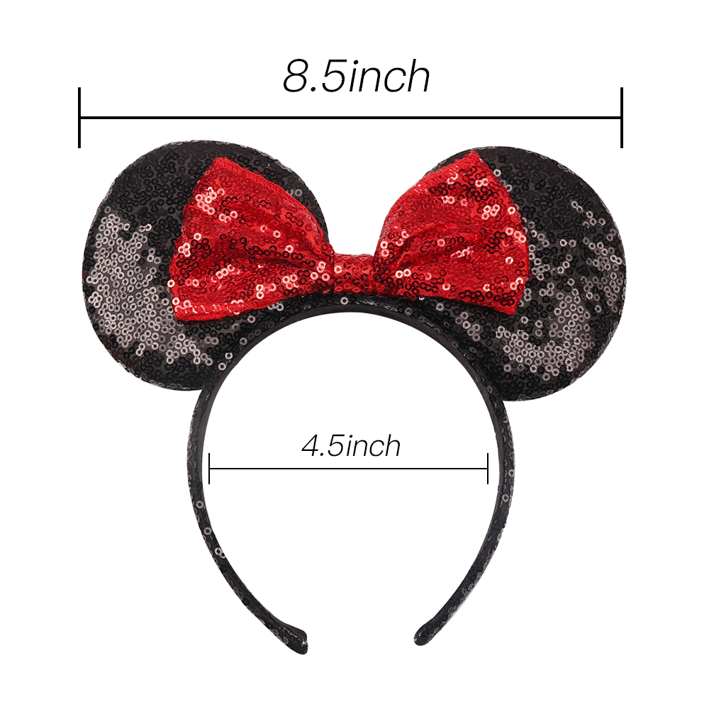 Headwear Hairband Sequin Bow Headband for Girls Minnie Mouse Ears Hairbands Birthday Party Kids Fashion Hair Accessories 7
