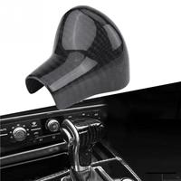 Carbon Fiber Gear Shift Knob Cover Trim for Audi A4 A5 A6 A7 Q5 Q7 S6 S7 Fit for Left Hand Drive Car Auto Accessories Styling