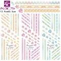 3 hojas/foro HOT157-159 ribbone diseño etiqueta del Agua Etiqueta Engomada Del Clavo de la belleza De Color diseño de Uñas de Arte Calcomanías de Transferencia de Agua etiqueta consejos
