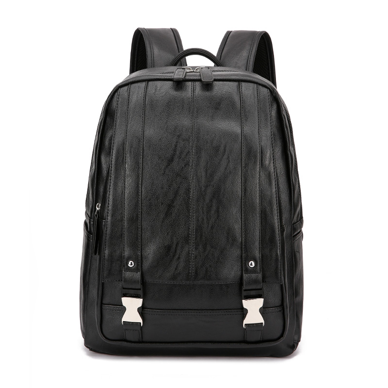 Laptop Men Backpack for 14 Inches Computer Business Man Backpacks PU Leather Waterproof Men Bag Backpacks College Casual BagsLaptop Men Backpack for 14 Inches Computer Business Man Backpacks PU Leather Waterproof Men Bag Backpacks College Casual Bags