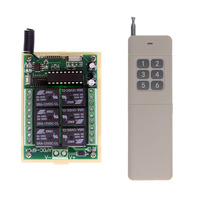 3000M Long Distance DC 12V 24V 6 CH 6CH RF Wireless Remote Control Switch System,Transmitter + Receiver,315 / 433 MHz