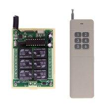 Système dinterrupteur sans fil à Distance RF 12V/24V, 6 canaux, 3000M, émetteur récepteur, 315 / 433 MHz, longue Distance