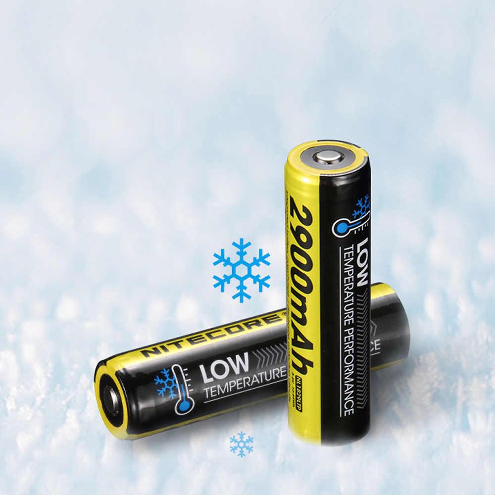 NITECORE NL1829LTP 2900 мАч 18650 низкая термостойкость высокая производительность перезаряжаемые 3,6 В Liion кнопка батареи топ