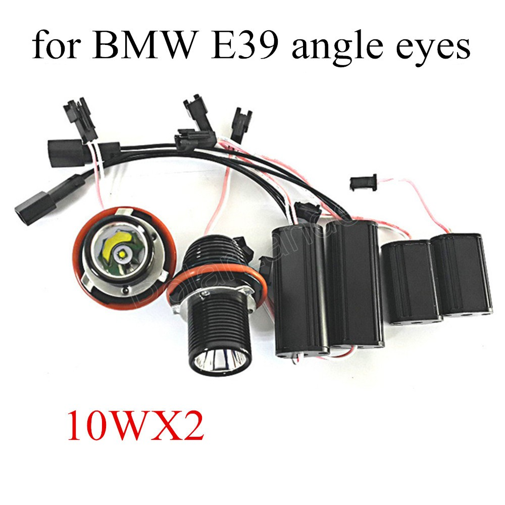 hot sale 2x 10W LED Angle Eye Halo Ring Light Bulb For BMW E39 E60 5 Series M5 X5 E53 E63 E65 X3 12V 1 pair new