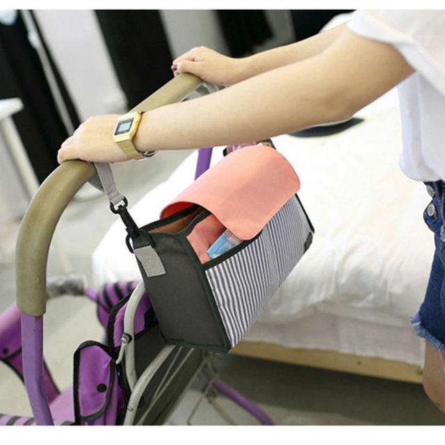 Cochecito de Bebé de Moda a prueba de agua Universales Bolsa de Pañales Organizador de Pounch Para Accesorios Cochecito Cochecito cochecito de Bebé Cochecito
