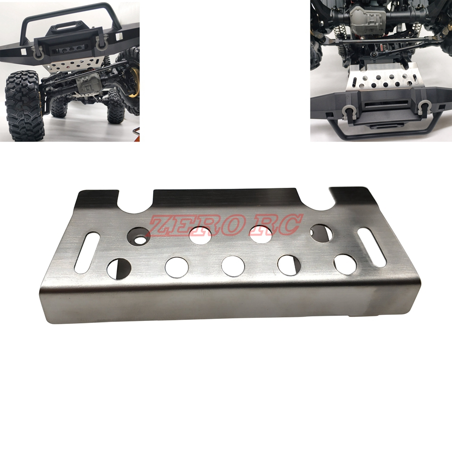 TRX4 Stainless Steel Front Bumper Protection Skid Plate For 1/10 RC Crawler TRAXXAS Trx-4 Trx 4