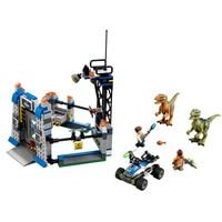79180 LELE Jurassic World 3 Raptor Escape Figure Blocks Construction Building Bricks Toys For Children Christmas Gift