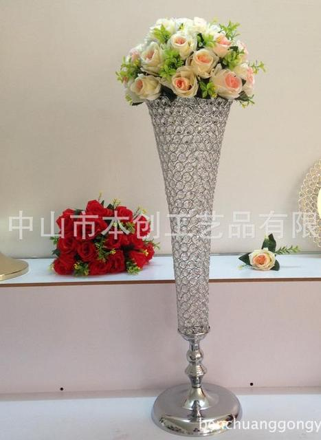 Silver Metal Vase Wedding Flower Stand Centerpieces Height76cm In