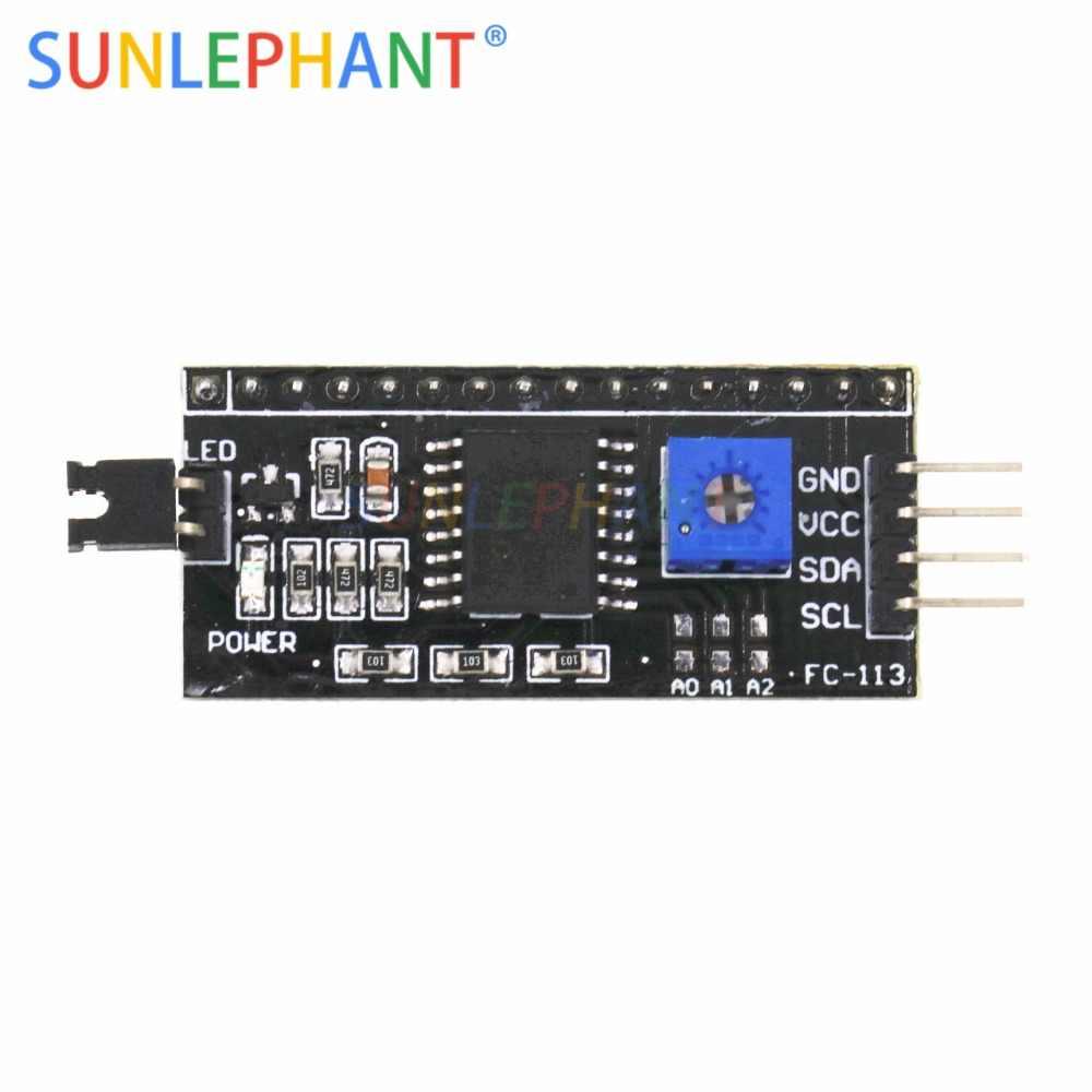IIC I2C TWI SPI Port de carte d'interface série pour Arduno 1602 2004 LCD LCD1602 adaptateur plaque LCD adaptateur convertisseur Module PCF8574