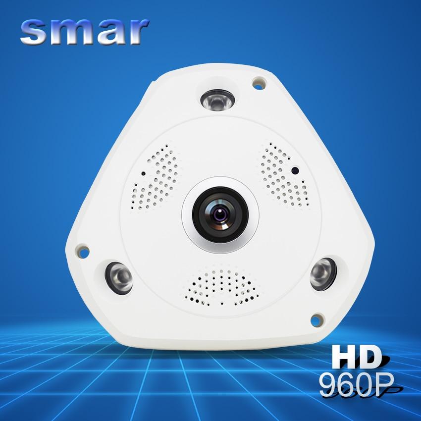 ФОТО Smar HD 960P WIFI Wireless IP Camera H.264 Smart 360 Degree Panoramic VR CCTV Security Camera Home Protection Surveillance Hot