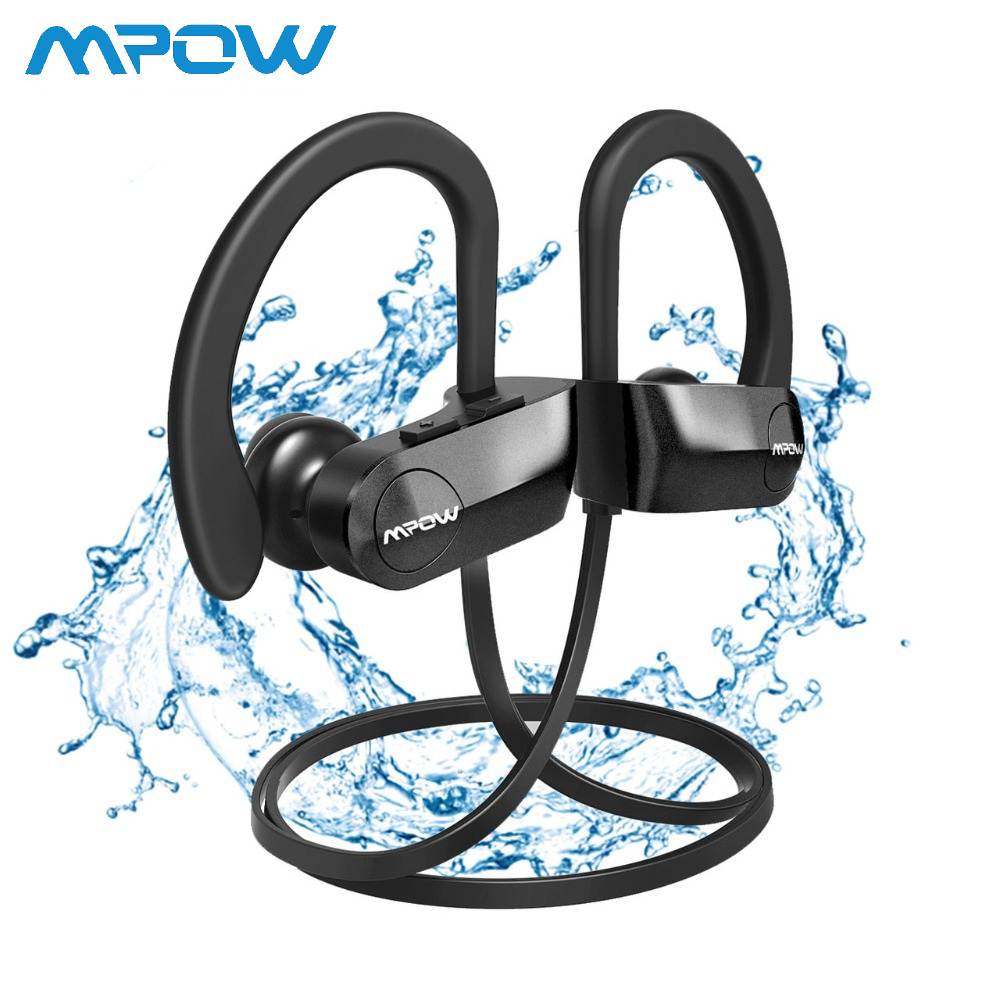 Earphones & Headphones Back To Search Resultsconsumer Electronics Mpow D7 Ipx7 Waterproof Bluetooth Headphones Bass Stereo Wireless Sports Earbuds With Mic&carrying Case 10 To 12 Hrs Playtime