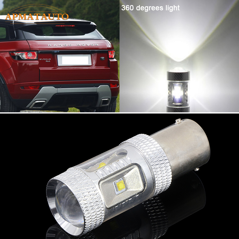 2x  6000K White  Canbus Error Free XBD chips LED Car Reverse Bulb Rear Light For LAND ROVER Freelander Defender Discovery Range