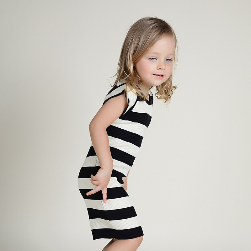 Aliexpress Buy Autumn New Striped Kids Knitted Dress
