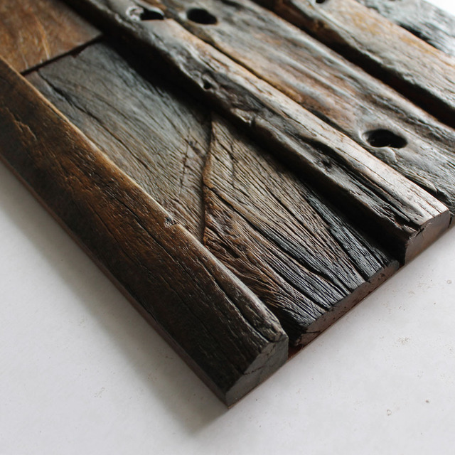 Striped holes in wood