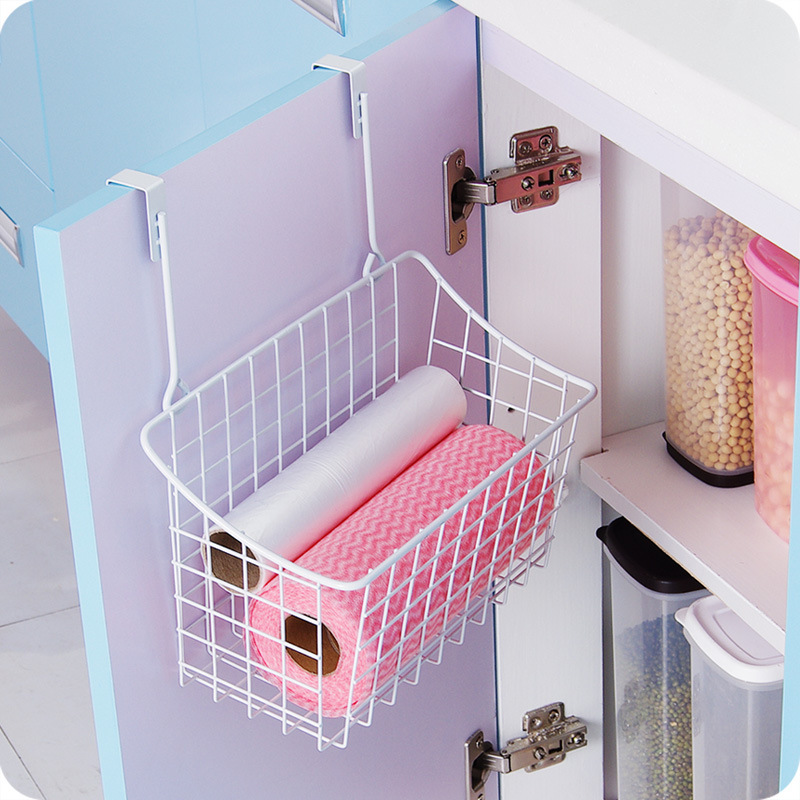 Creative Metal Over Door Storage BasketPractical Kitchen Cabinet Drawer Organizer Door Hanger Storage Basket With The Hook-in Storage Baskets from Home ... & Creative Metal Over Door Storage BasketPractical Kitchen Cabinet ...