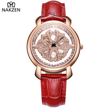 Fashion Genuine Leather Strap Women Watch Ladies Quartz Wrist Watches Relojes Mujer Luxury NAKZEN Female Gift Clock for Girls share ho 30pcs moxa artemisia tube self stick chinese moxibustion stickers therapy heating acupuntura point warm meridian