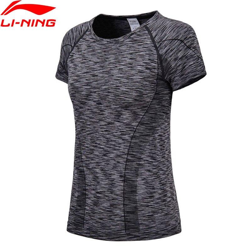 Li-Ning Women Running T-Shirt Slim Fit 72.5% Polyester 21% Nylon 6.5% Spandex LiNing Comfort Sport Tops T-shirts ATSN026 WTS1367Li-Ning Women Running T-Shirt Slim Fit 72.5% Polyester 21% Nylon 6.5% Spandex LiNing Comfort Sport Tops T-shirts ATSN026 WTS1367