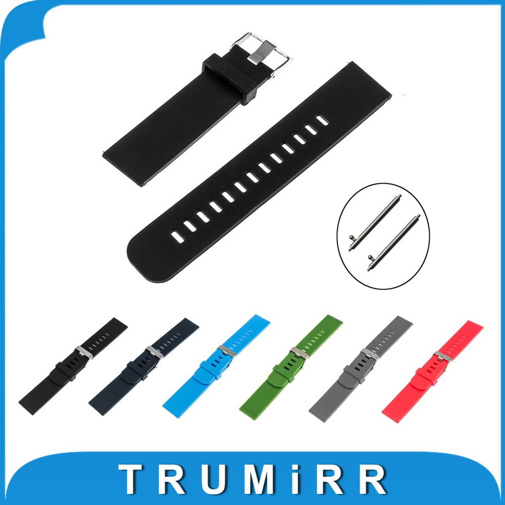 Quick Release Pin Watchband 17mm 18mm 19mm 20mm 21mm 22mm Universal Silicone Rubber Watch Band Strap Resin Bracelet 14 16 17 18 19 20 21 22 23 24mm universal watch band strap stainless steel watchband bracelet ll 17
