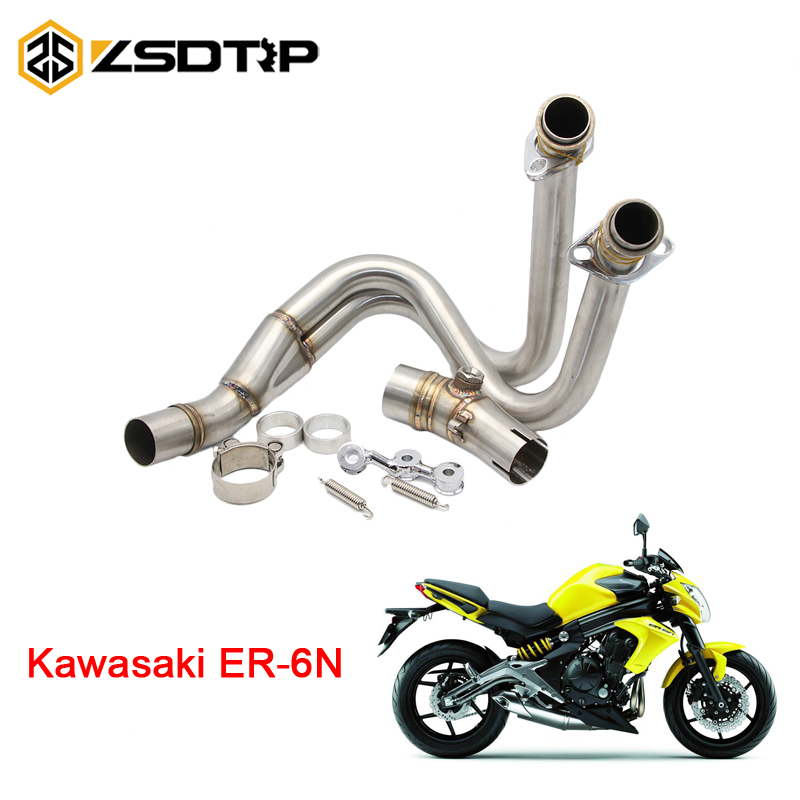 ZSDTRP модифицированный мотоцикл среднего выхлопной трубы Подключение трубы полная система Чехол для Kawasaki ER6N 2012-2014
