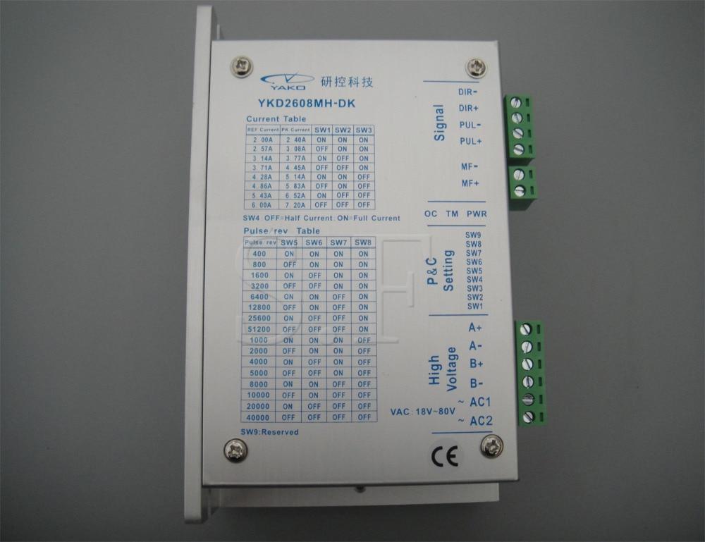 DC Stepper Motor Driver YAKO Brand,YKB2608MH-DK For CNC Router