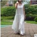 Запуск новых продуктов в осенью 2016 года качество оригинальный дизайн свободно большие ярдов хлопка и белье женщины платье