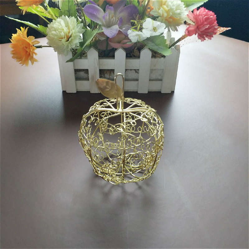 30pcs wedding European creative candy box Personalized romantic wrought iron apple