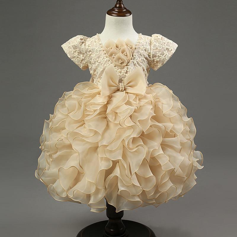 Traje del vestido de la princesa de la flor de Tulle del cordón de - Ropa de ninos