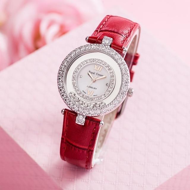 Elegant Glitter Crystal Japan Quartz Watch