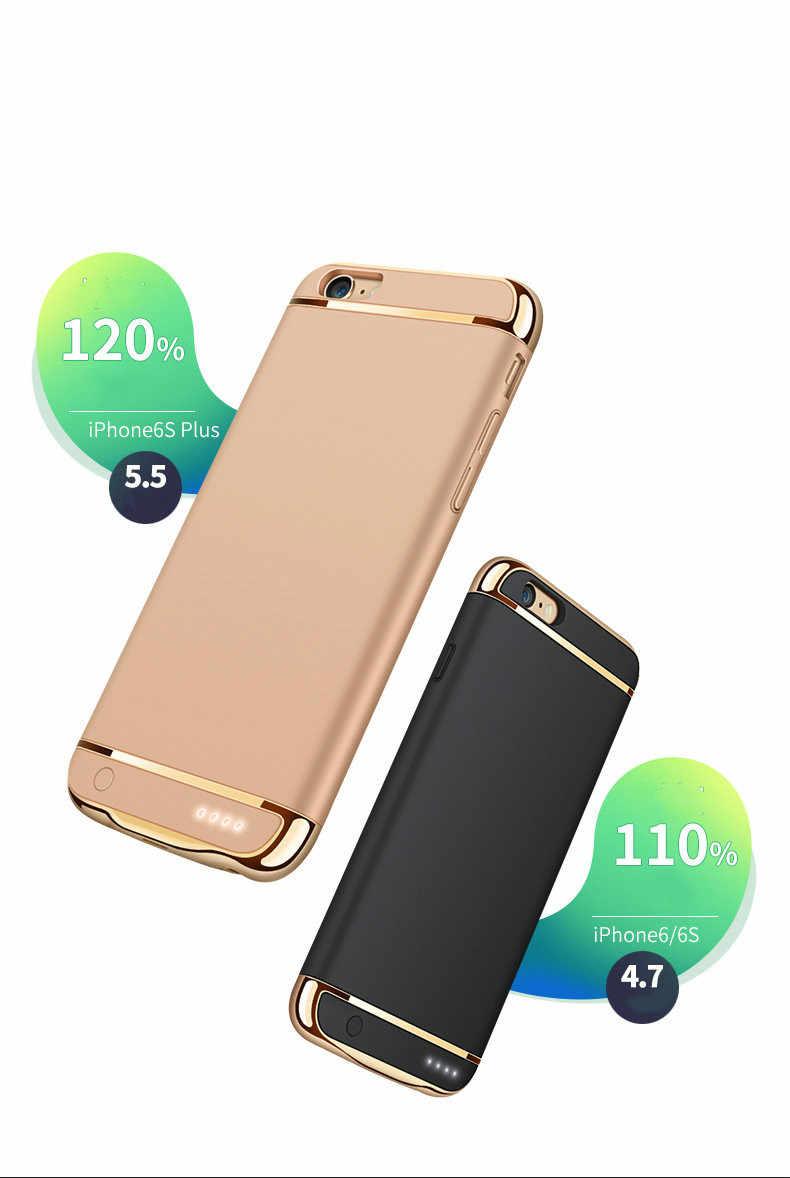 מקרה מטען הסוללה קליפ חזרה אלחוטי 4000 mAh בנק חשמל עבור iPhone 6/7/8 פלוס טלפון נייד מקרה כוח פונקציה מחזיק