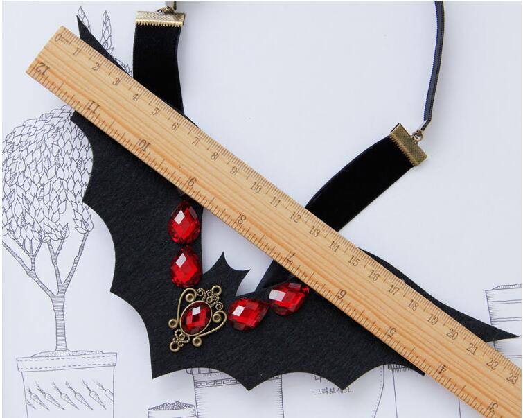 Halloween Cosplay Demon Vampire Black Red Rhinestone Headbnads Night Club Queen Hairbands Girl Travel Hair Accessory