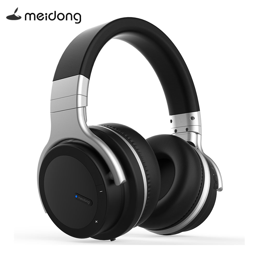 Original Meidong E7MD-PRO Active Noise Cancelling Wireless Bluetooth Headphones wireless Headset with microphone for phone shoot 4 0 wireless bluetooth headphones for iphone xiaomi android phone with microphone bluedi on ear noise isolating headset