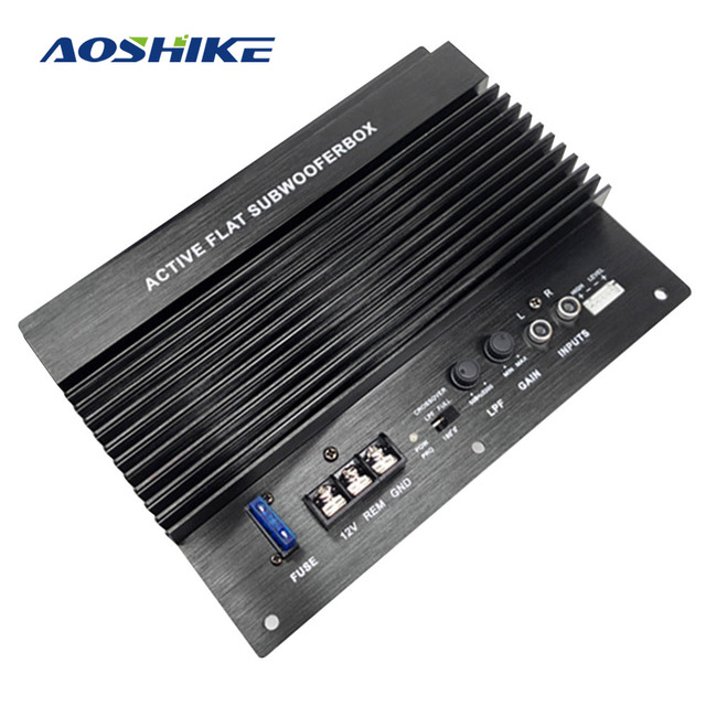 AOSHIKE 12 в 600 Вт Автомобильная усилительная плата сабвуферный контурный модуль Автомобильные усилители автомобильный усилитель мощности музыкальный автомобиль премиум