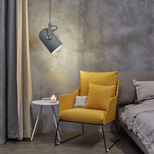 Grey Pendant Lights Bar Modern Lighting Kitchen Island Light Study Bedroom Home Room Ceiling Lamp Include Bulb